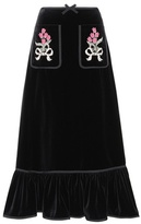Gucci Embellished cotton skirt