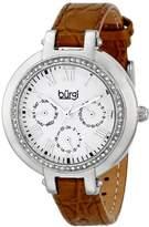 Burgi Women's BUR085OR Analog Display Japanese Quartz Orange Watch