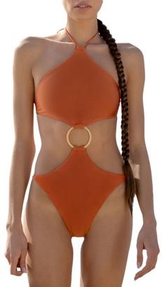 Cult Gaia Serena Cutout One-Piece Swimsuit