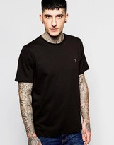 Farah T-Shirt with F Logo in Reg Fit