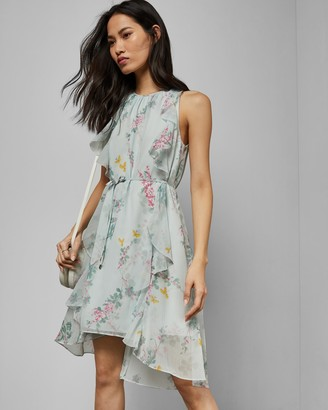 Ted Baker PARIZ Sorbet dip hem ruffle dress