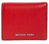 MICHAEL Michael Kors Women's Mercer Leather Rfid Cardholder Wallet - Red