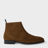 Paul Smith Men's Brown Suede 'Mulder' Boots