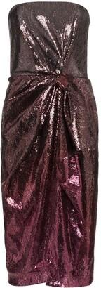 Mary Katrantzou Kylie strapless sequin midi dress