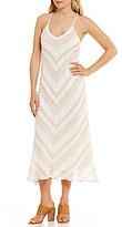 Gibson & Latimer Sleeveless Striped Hanky Hem Maxi Dress