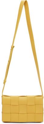 Bottega Veneta Yellow Small Intrecciato Cassette Bag