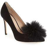Pour La Victoire Women's 'Camilla' Genuine Fox Fur Pump