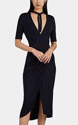 Narciso Rodriguez Women's Jersey Tieneck Wrap Dress - Navy