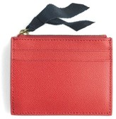 J.Crew Small Leather Zip Wallet - Red