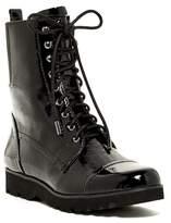 Donald J Pliner Camren Crinkled Patent Combat Boot