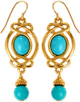 Ben-Amun Dangle Wrap Earrings, Blue