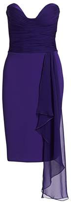 Gustavo Cadile Strapless Ruched Bustier Dress
