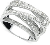 Townsend Victoria Diamond Multi-Row Ring in Sterling Silver (1/2 ct. t.w.)