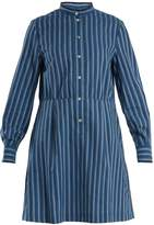 A.P.C. Lili striped cotton-twill shirtdress