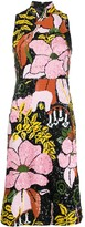 La DoubleJ Big Flower-pattern sequinned dress