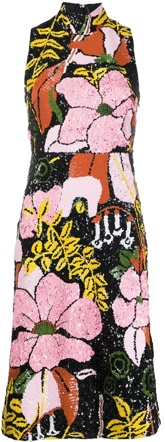 Thumbnail for your product : La DoubleJ Big Flower-pattern sequinned dress