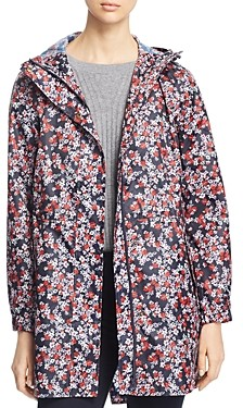 Joules GoLightly Packable Ditsy Floral Print Raincoat