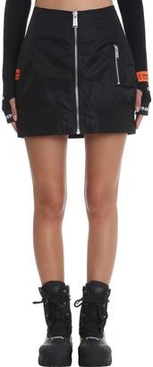 Heron Preston Nylon Bomber Skirt In Black Nylon