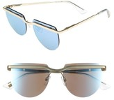 Le Specs Women's Mafia Moderne 52Mm Rimless Sunglasses - Brushed Gold