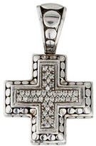John Hardy Diamond Dot Cross Pendant