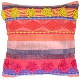 "Boho Boutique Pink Gem Warm Throw Pillow (16""x16"")"