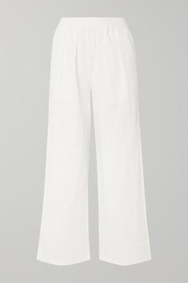 L.F. Markey Ryan Linen Wide-leg Pants - White