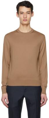 Tom Ford Tan Fine Merino Sweater