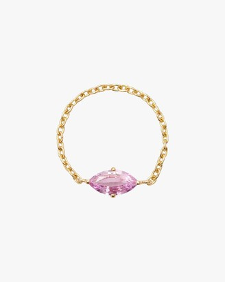 Yi Collection Pink Sapphire Marquise Supreme Chain Ring