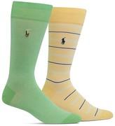 Polo Ralph Lauren Solid & Stripe Oxford Socks - Pack of 2