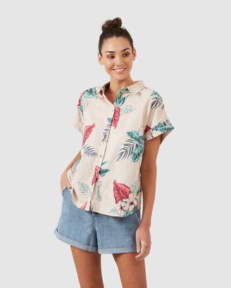 French Connection Tropics Linen S/S Shirt