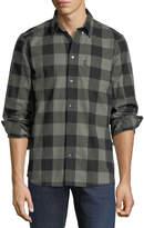 Wesc Plaid-Flannel Button-Down Shirt