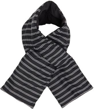 Nanamica Black Down Striped Muffler Scarf