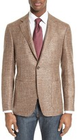 Canali Men's Kei Classic Fit Unconstructed Wool Blend Blazer