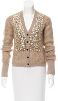 Burberry Embellished Wool & Mohair Cardigan
