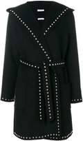 P.A.R.O.S.H. belted stud coat - women - Wool - XS