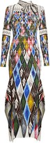Peter Pilotto Argyle-print long-sleeved maxi dress