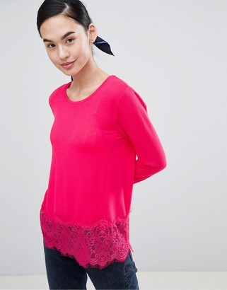 Only Lilo Top with Lace Trim-Pink
