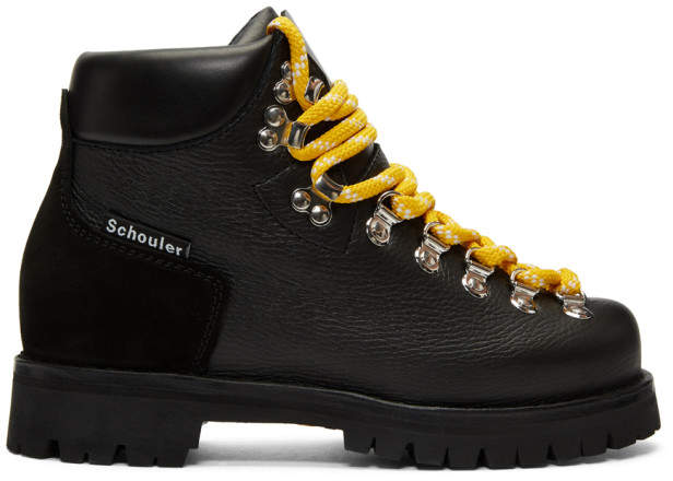 Proenza Schouler Black Hiking Boots