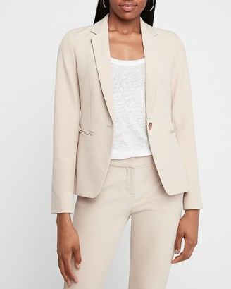 Express Supersoft Notch Collar One Button Blazer