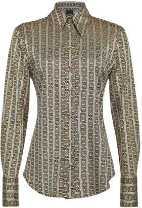 Pinko Jacquard-Woven Chain Pattern Shirt