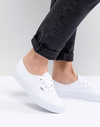 Vans Classic Authentic triple white sneakers