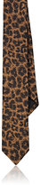 Saint Laurent Men's Silk Jacquard Necktie-BROWN