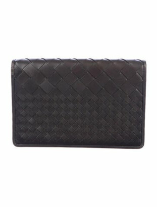 Bottega Veneta Intrecciato Leather Flap Clutch