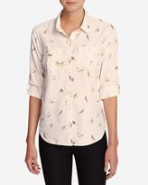Eddie Bauer Women's Mountain Textured Long-Sleeve Shirt - Print