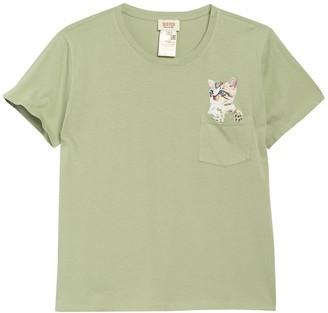 Paul & Joe Sister Peek-A-Boo Cat Pocket T-Shirt