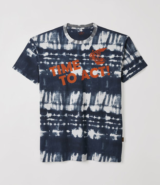 Vivienne Westwood New Boxy T-Shirt Time To Act Black Tie-Dye