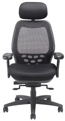 Nightingale Chairs SXO Series Ergonomic Mesh Task Chair Upholstery Color: Mystic Black, Headrest: Included