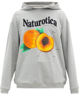 Christopher Kane Naturotica Peach-print Hooded Cotton Sweatshirt - Grey