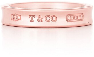 Tiffany & Co. 1837TM narrow ring in Rubedo metal
