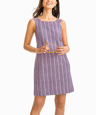 Southern Tide Women's Casual Dresses Blue - Blue Night Abstract Audrey Dress - Women